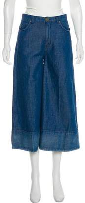 Co Mid-Rise Wide-Leg Pants