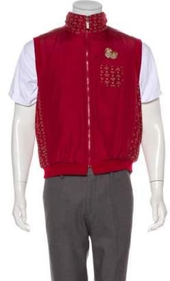 MCM Pineapple-Embroidered vest