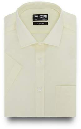 The Collection - Big And Tall Light Yellow Short Sleeve Regular Fit Shirt
