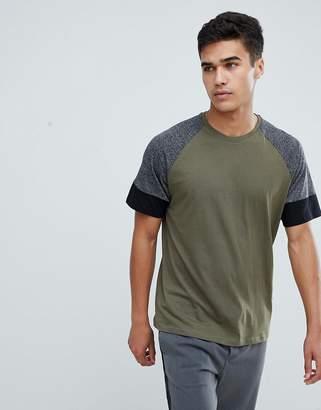 Kiomi Raglan T-Shirt In Khaki