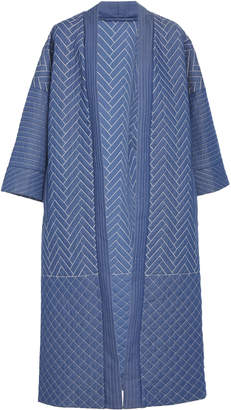 Temperley London Kiku Quilted Cotton Kimono Coat
