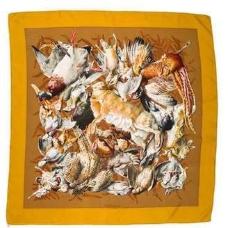 Hermes Gibiers Silk Scarf