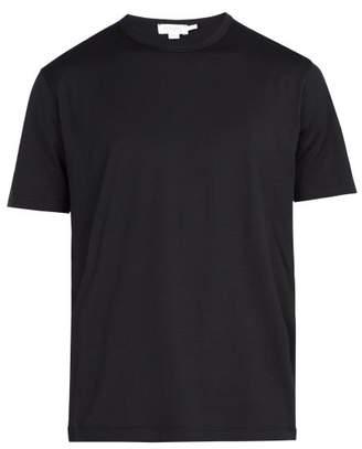 Sunspel Crew Neck Cotton Jersey T Shirt - Mens - Black