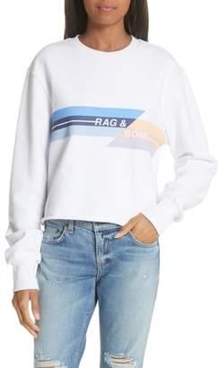 Rag & Bone Glitch Crop Sweatshirt