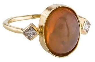 Jacquie Aiche 14K Opal & Diamond Ring