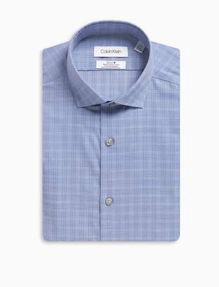 Calvin Klein Slim fit glen plaid dress shirt