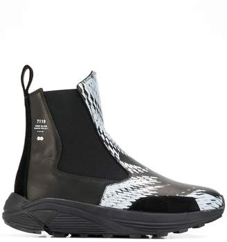 Stone Island Shadow Project printed ankle boots