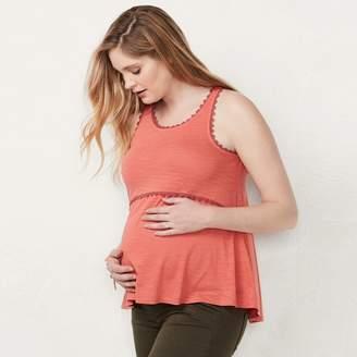Lauren Conrad Maternity Crochet Tank