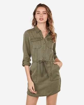 Express Twill Utility Shirt Dress