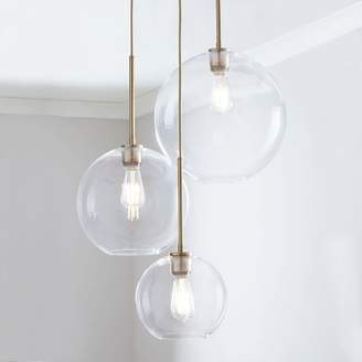 west elm Sculptural Glass Globe 3-Light Chandelier - Mixed (Clear)