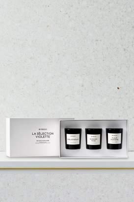 Byredo Violette mini candle gift set