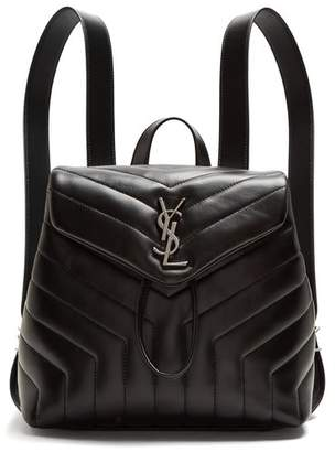 Saint Laurent Loulou Small Leather Backpack - Womens - Black