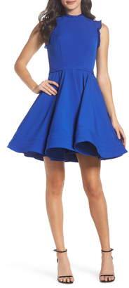 Mac Duggal Ieena For  Embellished Ruffle Fit & Flare Dress