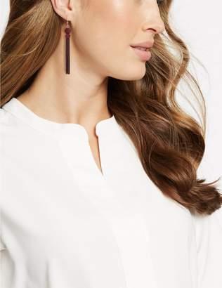 Marks and Spencer Sleek Velvet Tassel Drop Earrings