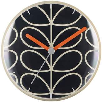 Orla Kiely Linear Stem Slate Wall Clock