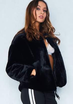 Missy Empire Missyempire Jess Black Faux Fur Jacket