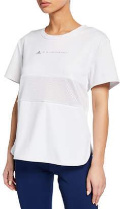 adidas by Stella McCartney Run Loose Short-Sleeve Athletic Tee