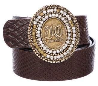Just Cavalli Embellished Embossed Belt