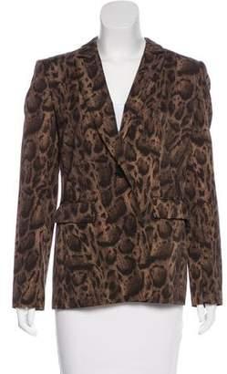 Lafayette 148 Wool Animal Print Blazer