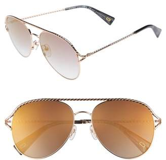 Marc Jacobs 58mm Aviator Sunglasses