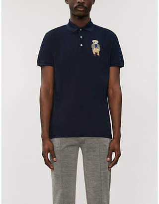 b3e00dd38 Ralph Lauren Purple Label Polo Bear-appliqué cotton-piqué polo shirt