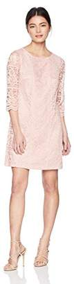 Jessica Howard Women's Petite Shift Dress with Lace Trim