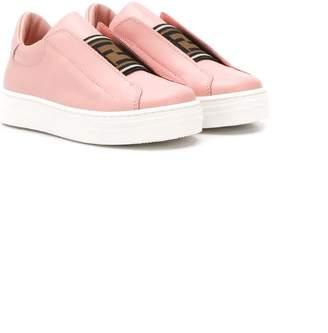 Fendi FF logo strap sneakers