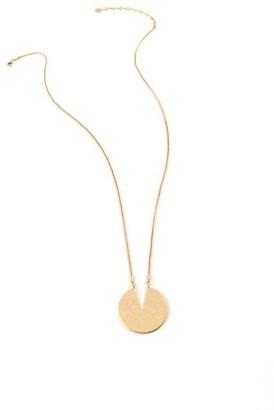 francesca's Layla Semi Circle Pendant Necklace - Gold