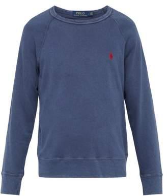 Polo Ralph Lauren Logo Embroidered Cotton Jersey Sweatshirt - Mens - Navy