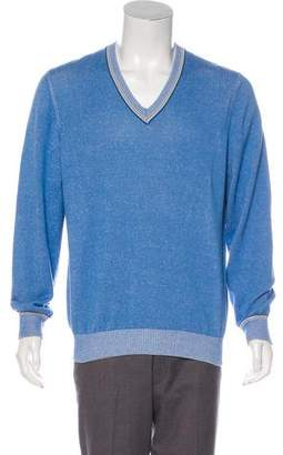 Brunello Cucinelli Long Sleeve V-Neck Sweater