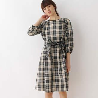 Couture Brooch (クチュール ブローチ) - クチュール ブローチ Couture brooch 【WEB限定サイズ(SS・LL)あり】チェックワンピース (ブラック)