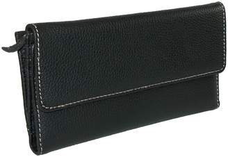Mundi Womens Rio Leather Back Zip Checkbook Cover Wallet