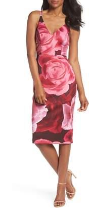 Xscape Evenings Floral Print Scuba Crepe Dress