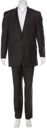 Burberry Cashmere & Wool Pinstripe Suit