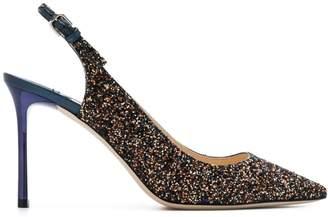 Jimmy Choo glitter ankle strap pumps