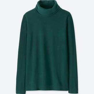 Uniqlo WOMEN HEATTECH Fleece Turtle Neck Long Sleeve T-shirt