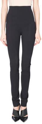 Balmain High-Waist Leggings, Black