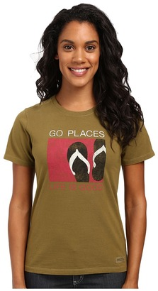 Life is good Go Places Flip Flop Crusher Tee $26 thestylecure.com