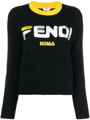 Fendi cropped logo sweater