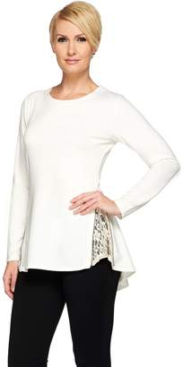 Logo By Lori Goldstein LOGO Lounge by Lori Goldstein French Terry Top with Side Zippers