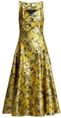 Erdem Verna floral-jacquard midi dress