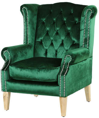 Emerald & Oak Duke Wingback Armchair