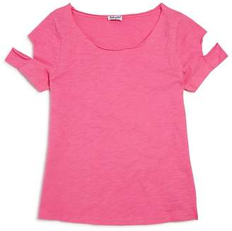 Splendid Girls' Distressed Cutout Tee - Big Kid