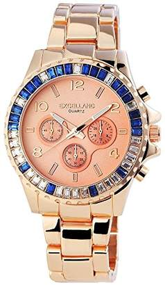Excellanc Women's Quartz Watch with White Dial Analogue Display and Silver Stainless Steel 152435500040
