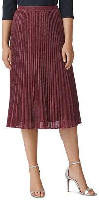 Whistles Pleated Sparkle Skirt