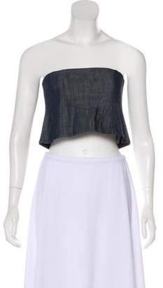 Tibi Denim Bandeau Top w/ Tags