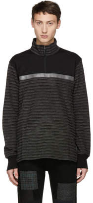 Junya Watanabe Black and White Reflector Zip-Up Shirt