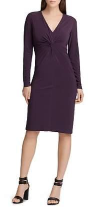 Donna Karan Ruched Jersey Dress