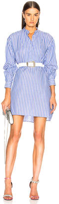 ALEXACHUNG Grandad Collar Shirt Dress