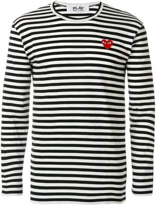 Comme des Garcons round neck striped jumper